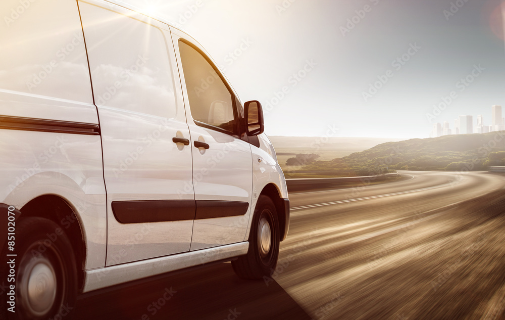 Fototapety, obrazy: Delivery Van on its way