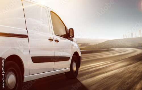 Delivery Van on its way