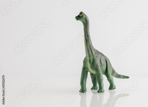 Photo  Dinosaur toy isolated on white
