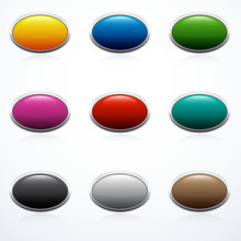 Set Of Oval Buttons