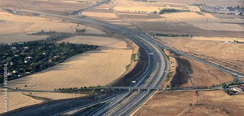 Fotografía  autoroute espagnole vue du ciel