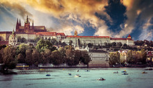View Of Old Town And Prague Castle