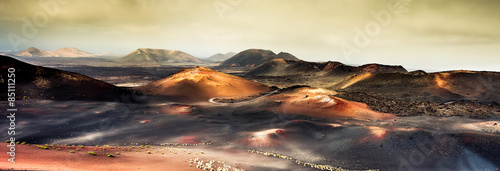 Garden Poster Canary Islands beautiful mountain landscape with volcanoes