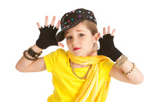 Dancer: Hip Hop Dancer Makes Jazz Hands