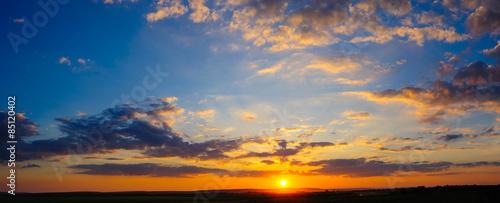 Fotografia, Obraz Super high resolution colorful dramatic sunset panorama