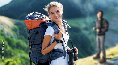 Obraz Travel, traveler, backpack. - fototapety do salonu
