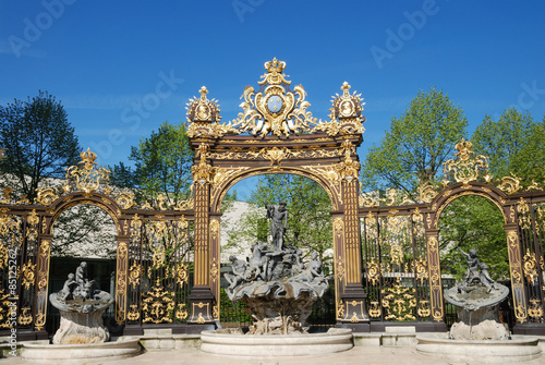 Valokuva  Neptune fountain on Place Stanislas In Nancy, Lorraine, France