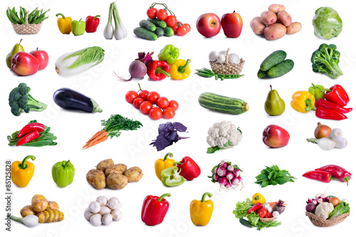 Aluminium Prints Vegetables collection of lot vegetables