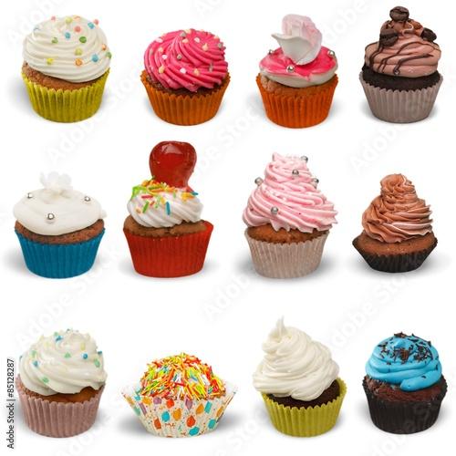 Photo  Cupcake, Isolated, Multi Colored.