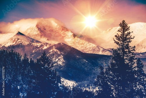 Poster de jardin Montagne Colorado Mountains Vista