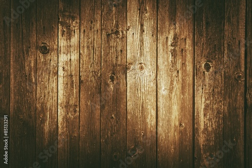 Deurstickers Hout Dark Vintage Wood Backdrop