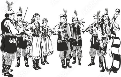 Obrazy Muzyka Polska polish-traditional-folk-band