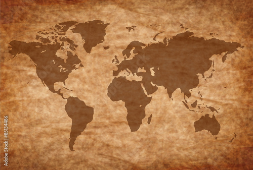 Foto op Aluminium Wereldkaart 世界 地図 背景