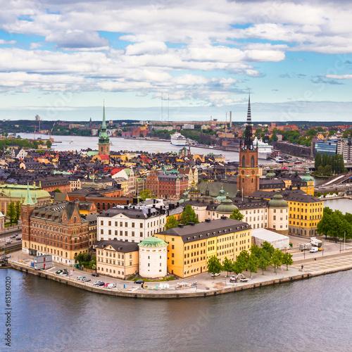 In de dag Noord Europa Gamla stan, Sweden, Scandinavia, Europe.