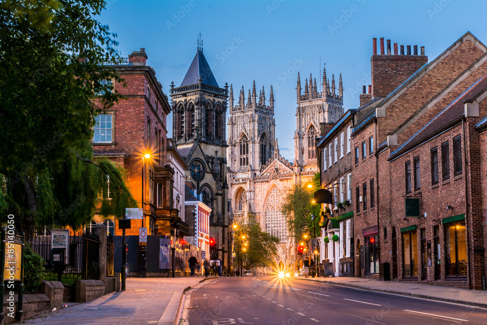 Fototapety, obrazy: York , Yorkshire,England, UK, night view