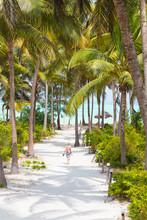 Woman Walking On Paje Beach, Z...