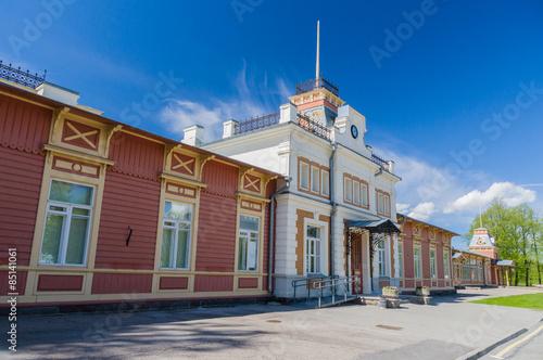 Old vintage railway station in Haapsalu, Estonia