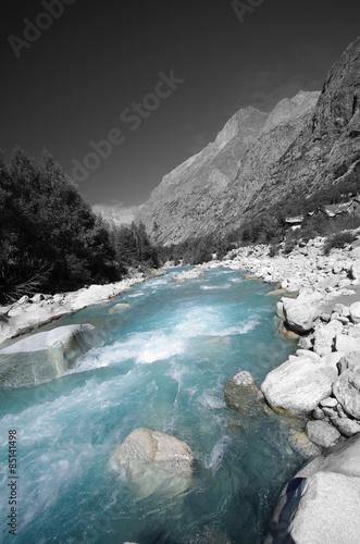 Photo  torrent de montagne