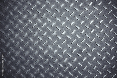 Cross Hatch Metal Anti-skid Pattern Canvas Print