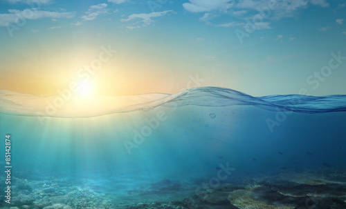 Fotografia  Underwater background