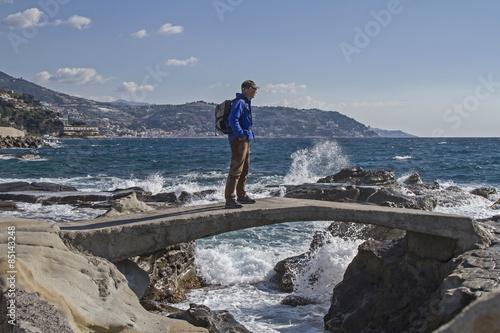 Fototapeta Küste bei Bordighera obraz na płótnie