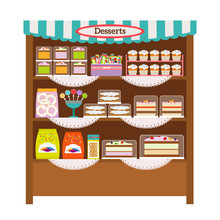 Showcase With Desserts