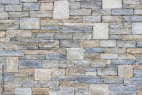Tuinposter Stenen Background of stone wall texture photo