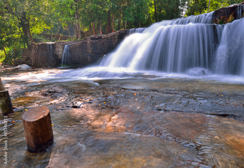 Foto op Plexiglas Panoramafoto s Kulen waterfall in Siem Reap, Cambodia