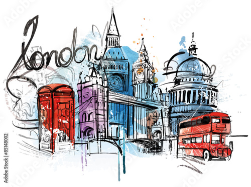 Photo  London City Sketch