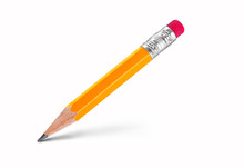 Lead Pencil Isolated On White Background.