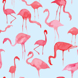 watercolor flamingo pattern