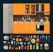 Cooking Icons Set. Modern Kitc...