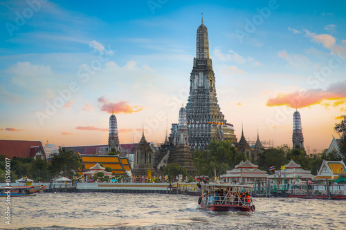 Wall Murals Temple Wat Arun - the Temple of Dawn in Bangkok, Thailand
