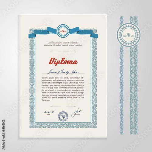Fotografía  Certificate, Diploma, design template