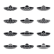 Vector Set Of Mexican Sombrero...