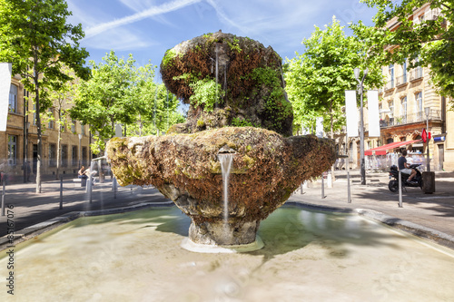 Fountain of new guns on the Cours Mirabeau in Aix en Provence Canvas Print