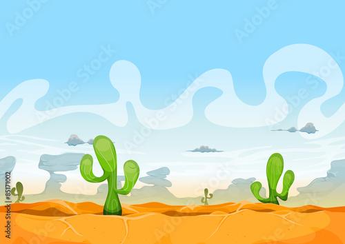 Foto op Plexiglas Turkoois Seamless Western Desert Landscape For Ui Game