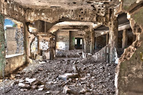 Fotomural Syrienkrieg-Zerstörung