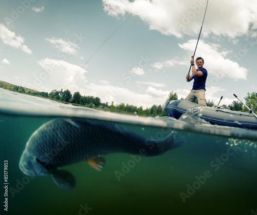 Poster Peche Fisherman