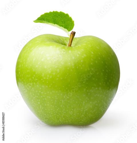 Fotografie, Obraz  Zelené jablko izolované