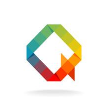 Q Letter Logo Template.Rainbow...