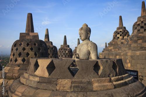 Foto op Plexiglas Indonesië Buddist temple Borobudur . Yogyakarta. Java, Indonesia