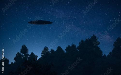 Türaufkleber UFO Ufo in the sky