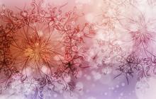 Flower Mandala On A Pink And V...