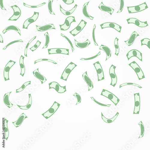 Fototapeta Background with money falling from above. obraz