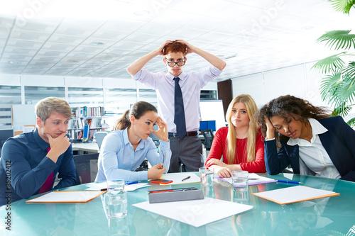 Fotografie, Obraz  business meeting sad expression negative gesture