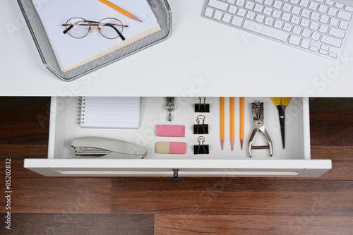 Open Desk Drawer