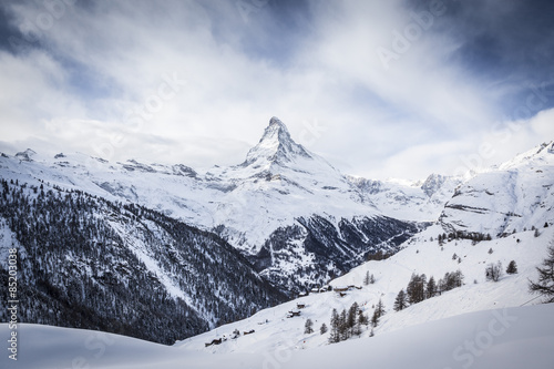 Poster  Matterhorn covered in Snow