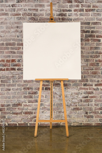 Easel with square canvas Fototapet