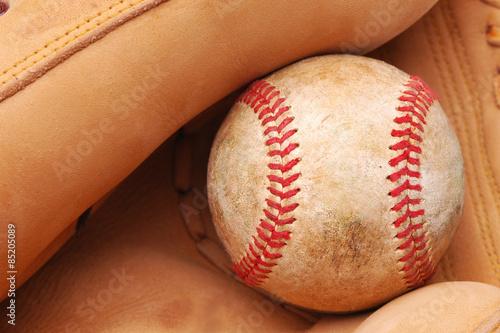 Baseball in Glove Canvas Print